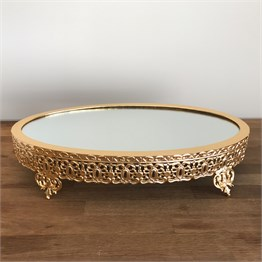 Gold Oval Jardinyer